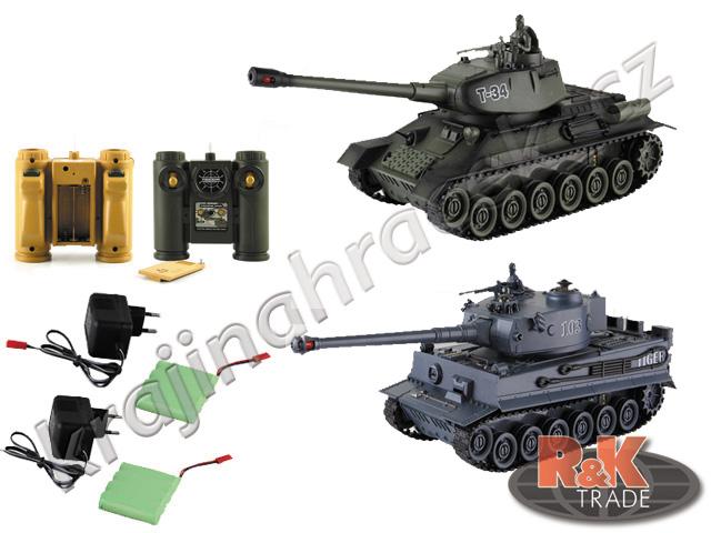 Sada 2 ks tank na dálkové ovládání R/C TIGER