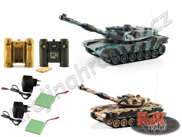 Sada 2 ks tank na dálkové ovládání R/C T-90 vs Abrams