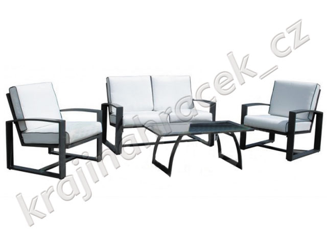 Hliníkový zahradní nábytek set + polstrování