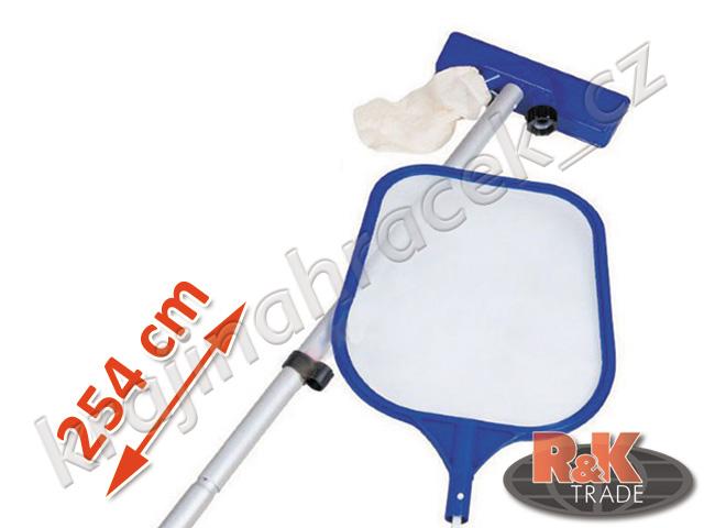 Bestway hladinová síťka bazénová čistící sada vysavač 254 cm 58098
